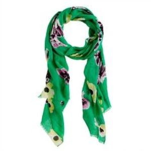 J. Crew Printed Linen Scarf in Punk Floral